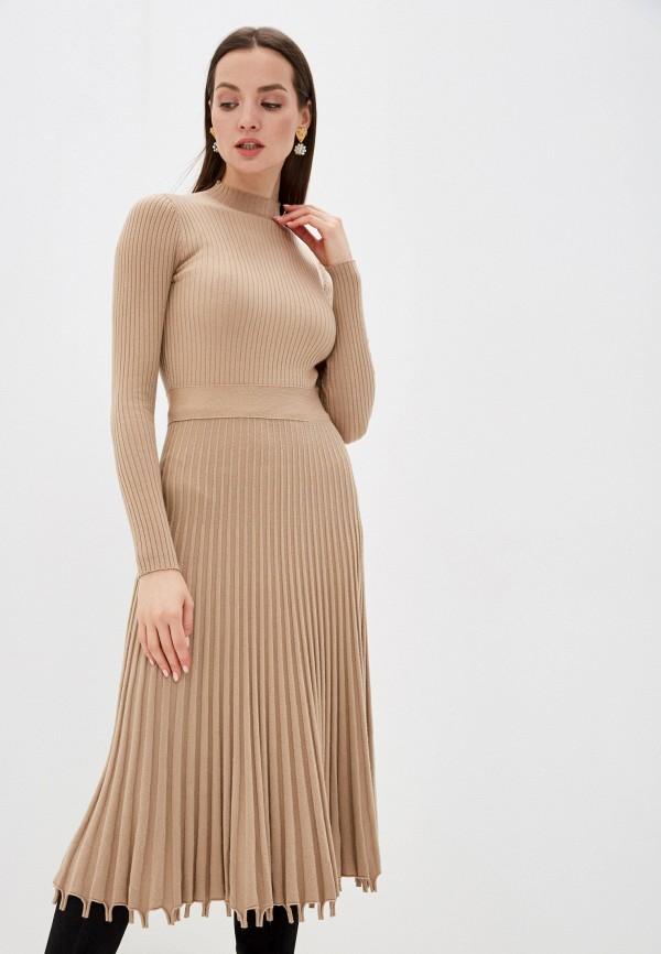 женское платье liana, бежевое