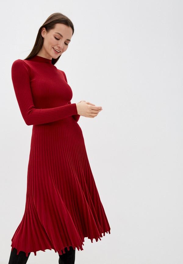 женское платье liana, бордовое