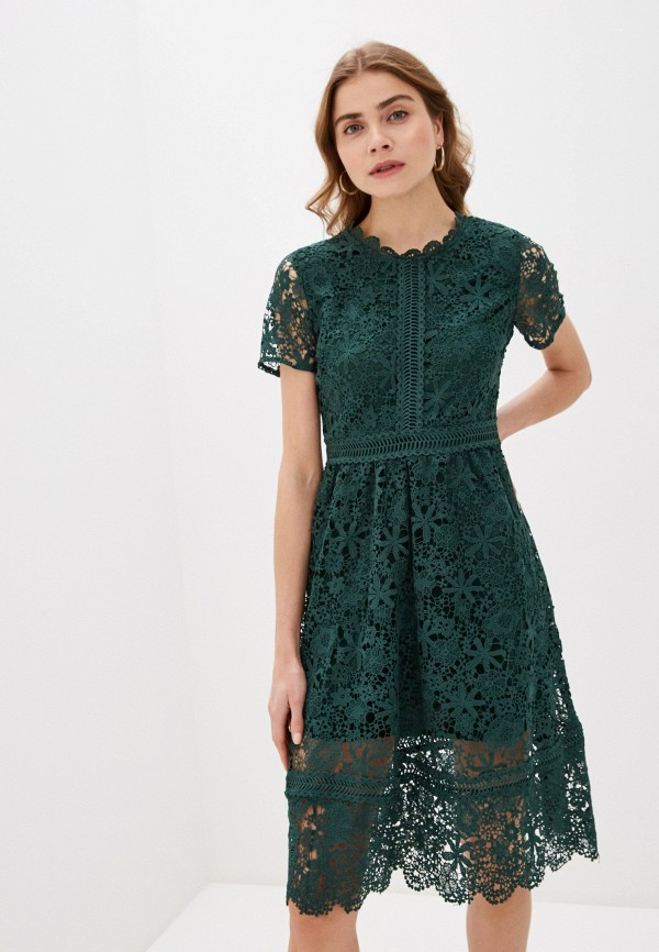 женское вечерние платье liana, зеленое
