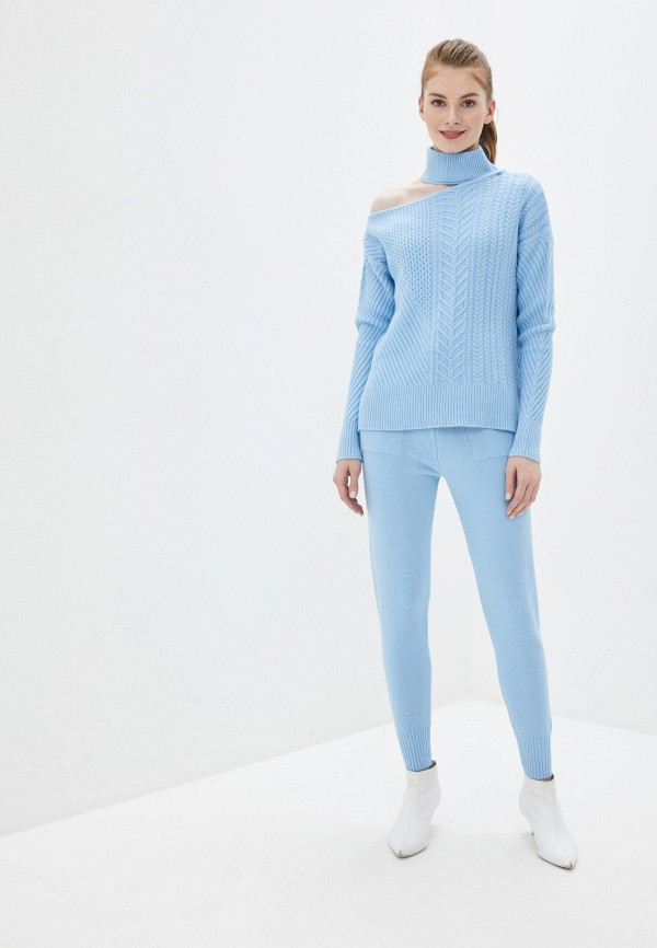 женский вязаные костюм liana, голубой
