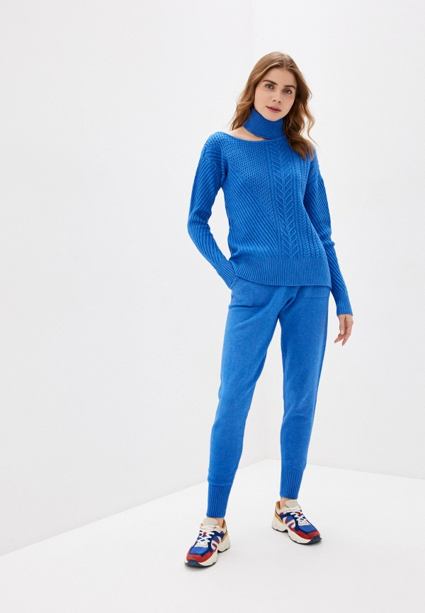 женский вязаные костюм liana, синий
