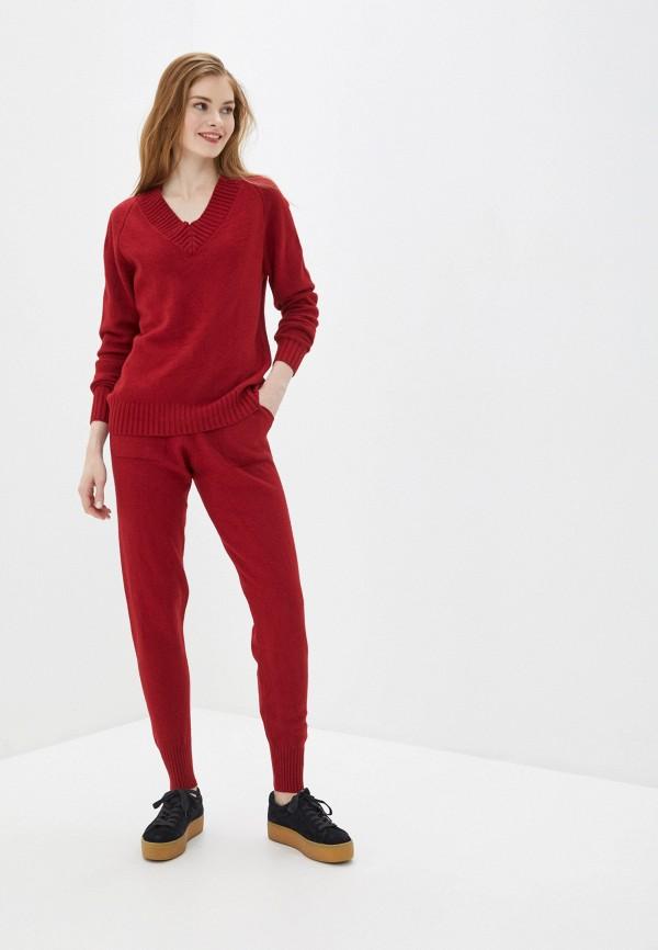 женский вязаные костюм liana, красный