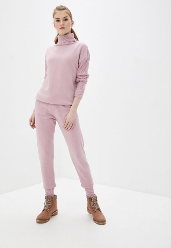женский вязаные костюм liana, розовый