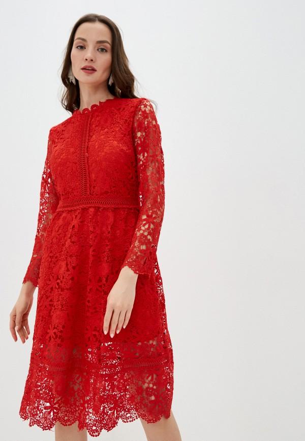женское вечерние платье liana, красное
