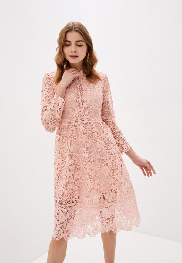 женское вечерние платье liana, розовое