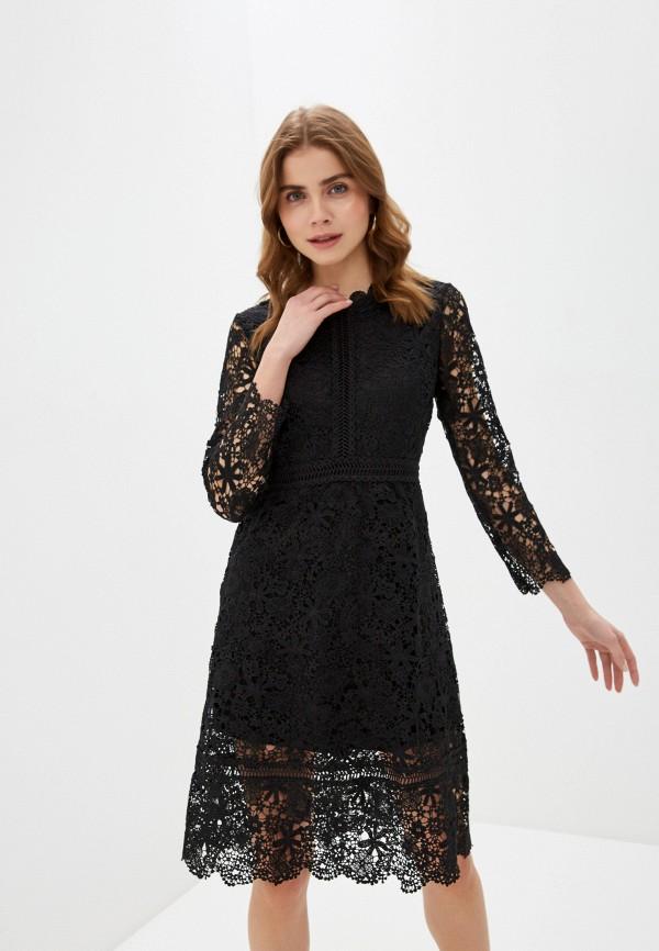 женское повседневные платье liana, черное