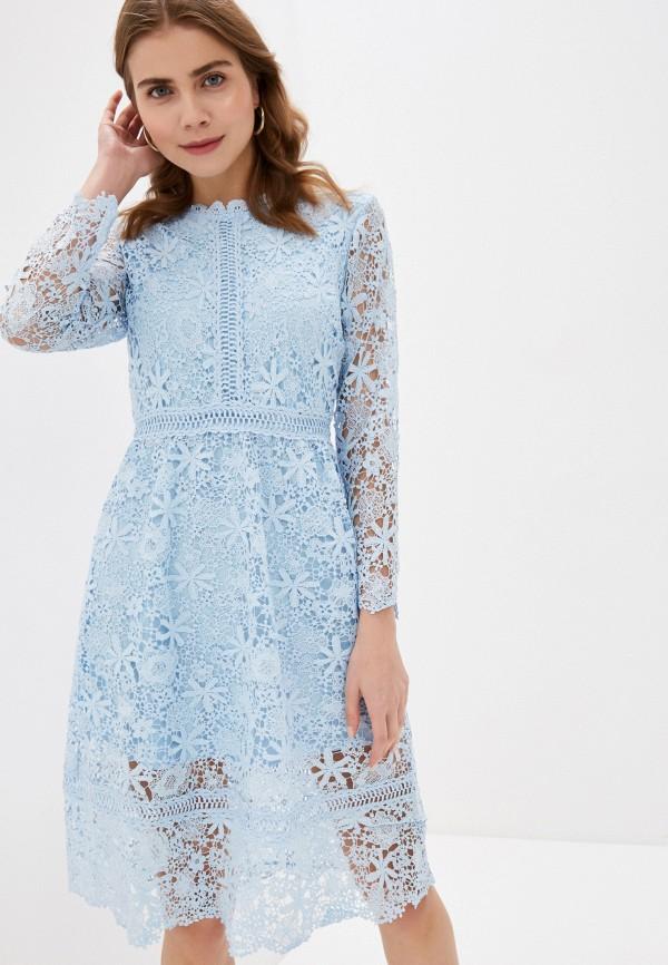 женское вечерние платье liana, голубое