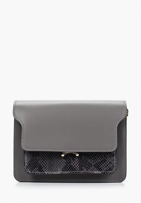 женская сумка lisa minardi, серая