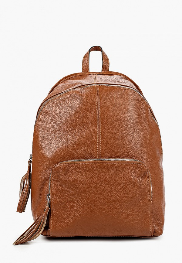 женский рюкзак lisa minardi, коричневый