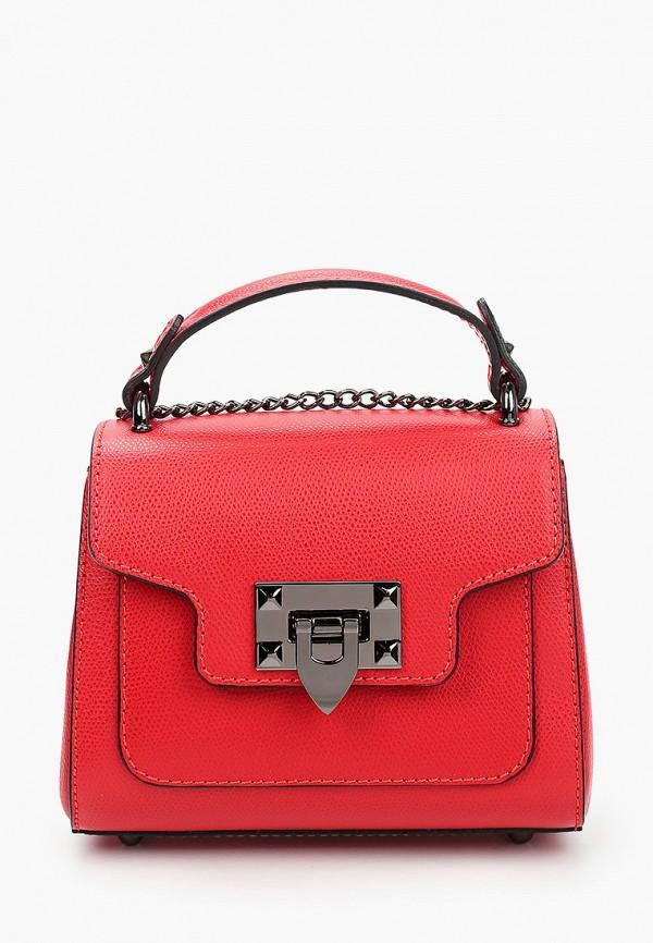 женская сумка lisa minardi, красная
