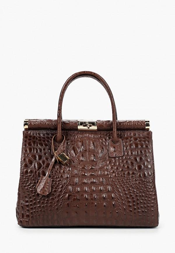 женская сумка lisa minardi, коричневая