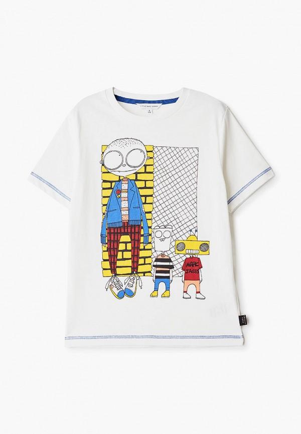 футболка little marc jacobs для мальчика, белая