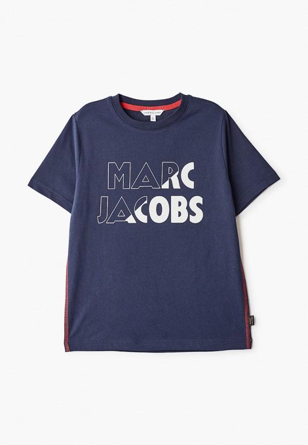 футболка little marc jacobs для мальчика, синяя