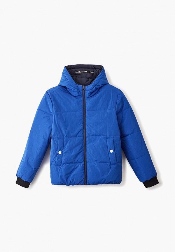 утепленные куртка little marc jacobs для мальчика, синяя