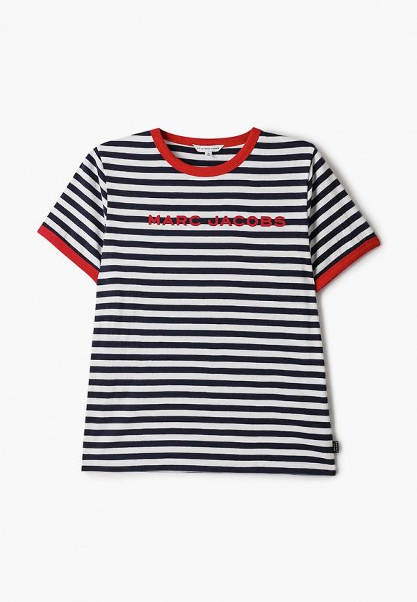 футболка с коротким рукавом little marc jacobs для мальчика, синяя