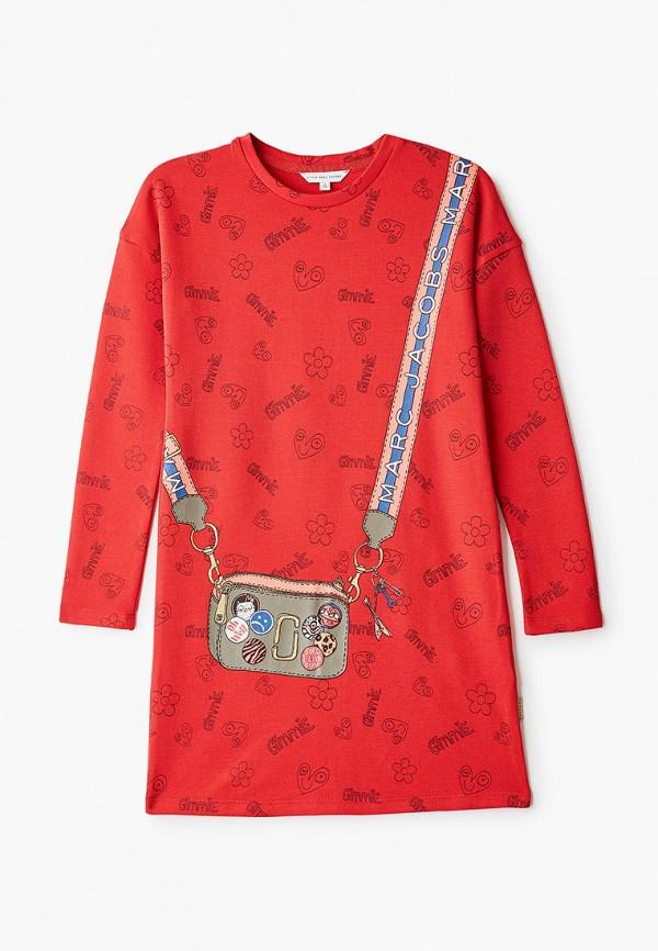 платье little marc jacobs для девочки, красное