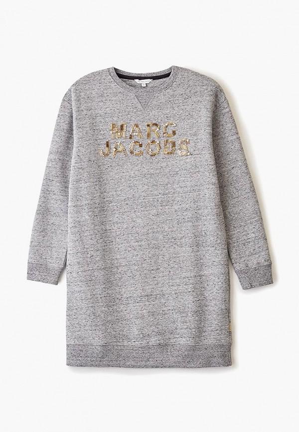 повседневные платье little marc jacobs для девочки, серое