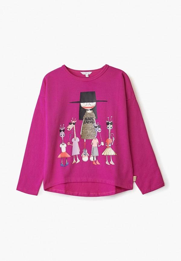 лонгслив little marc jacobs для девочки, розовый