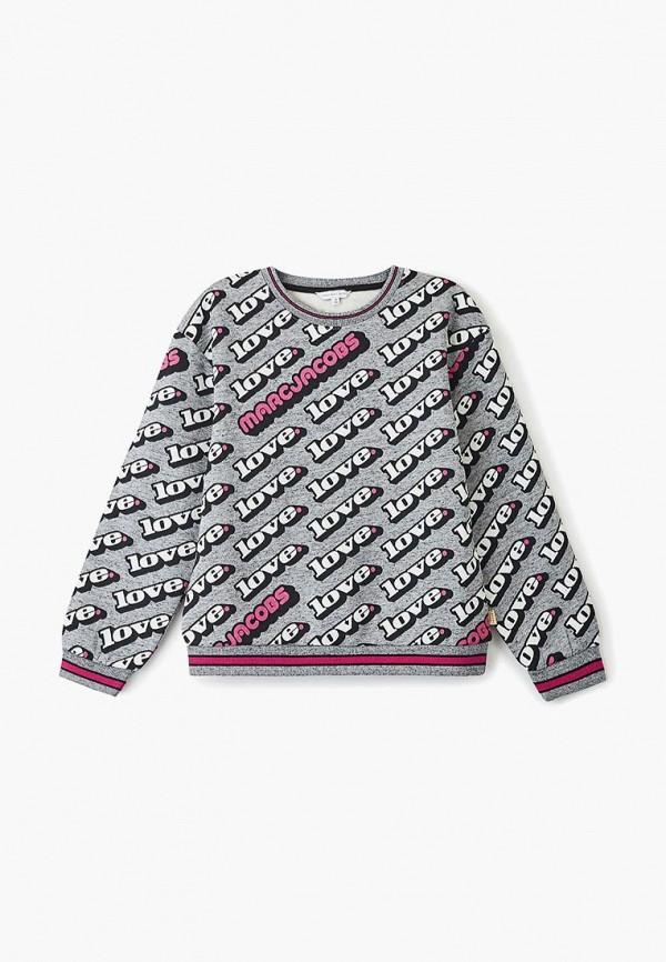 свитшот little marc jacobs для девочки, серый