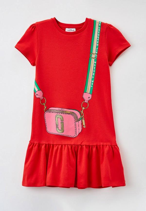 повседневные платье little marc jacobs для девочки, красное