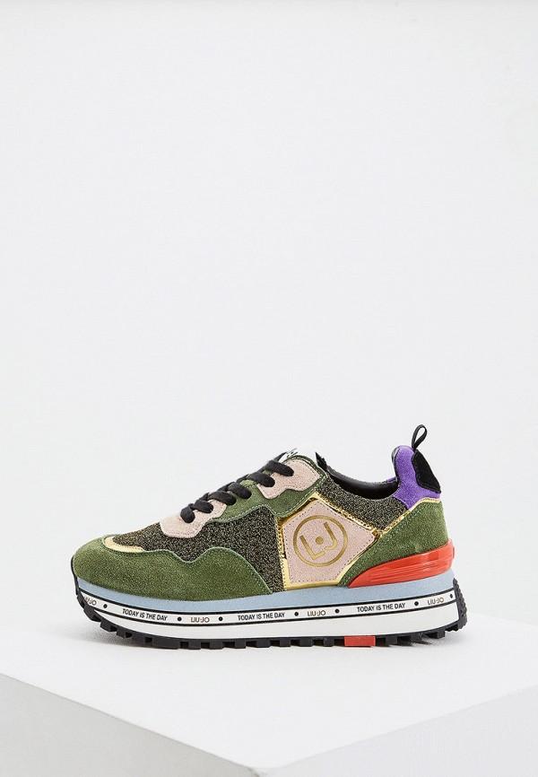 женские кроссовки liu jo, зеленые