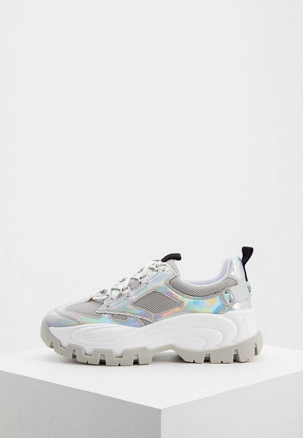 женские кроссовки liu jo, серебряные