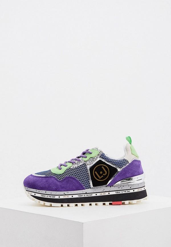 женские кроссовки liu jo, фиолетовые