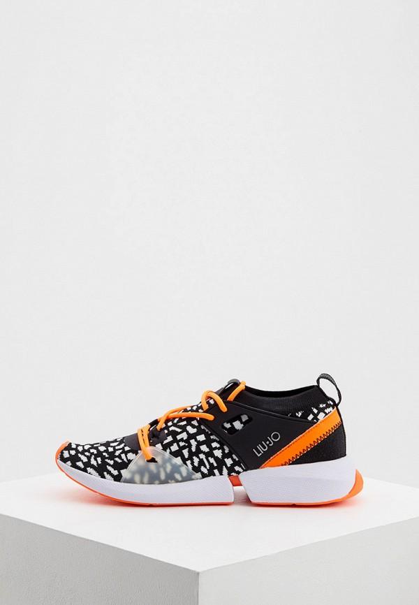 женские кроссовки liu jo, оранжевые
