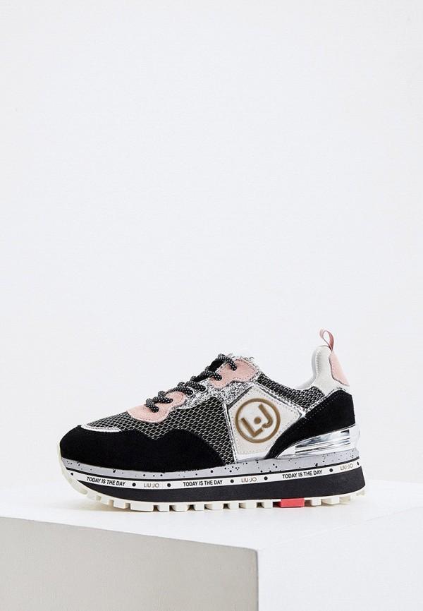 женские низкие кроссовки liu jo, черные