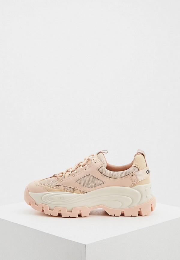 женские кроссовки liu jo, розовые