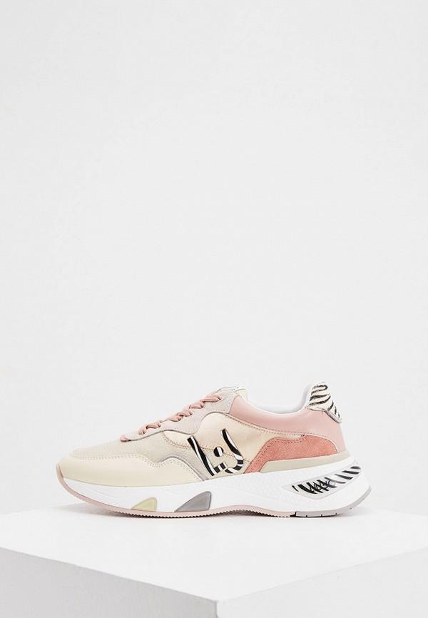 женские кроссовки liu jo, бежевые