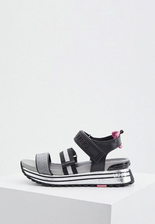 женские сандалии liu jo, серебряные
