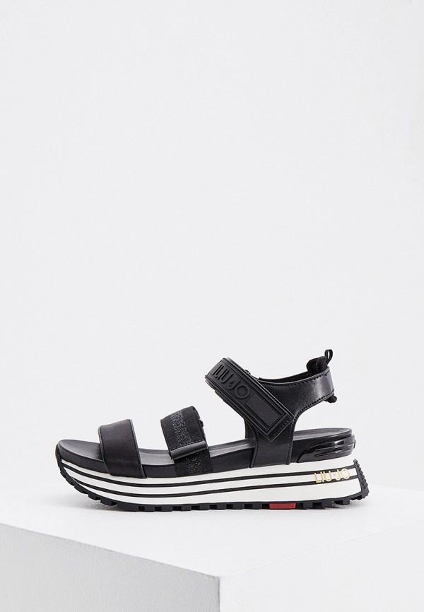 женские сандалии liu jo, черные