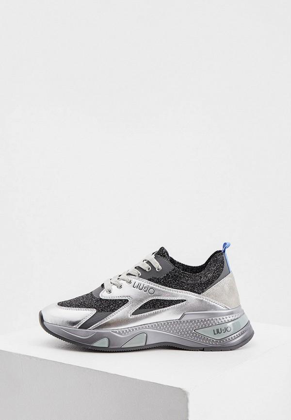 женские низкие кроссовки liu jo, серебряные