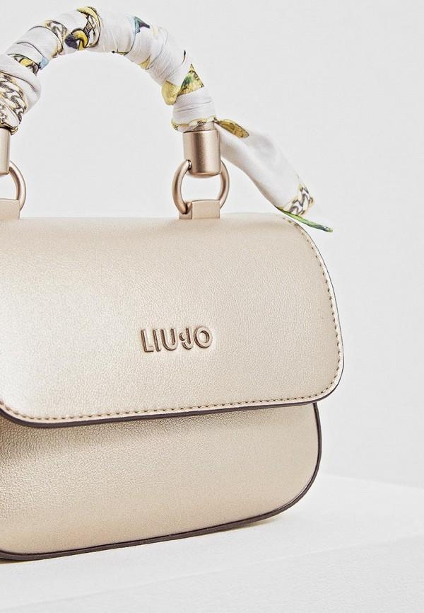 Фото 3 - женскую сумку Liu Jo золотого цвета