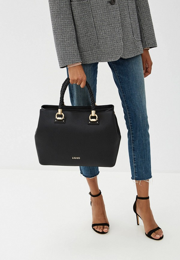 Фото 5 - женскую сумку Liu Jo черного цвета