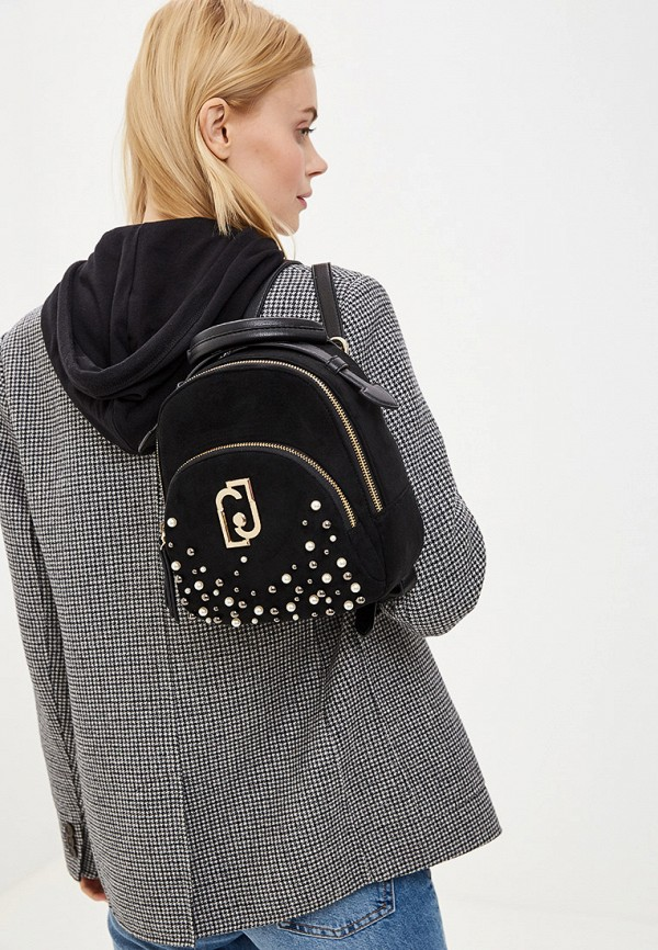 Фото 6 - женский рюкзак Liu Jo черного цвета