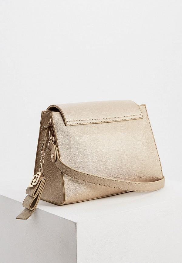 Фото 2 - женскую сумку Liu Jo золотого цвета