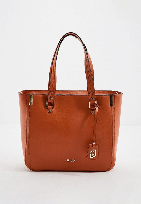 женская сумка liu jo, оранжевая