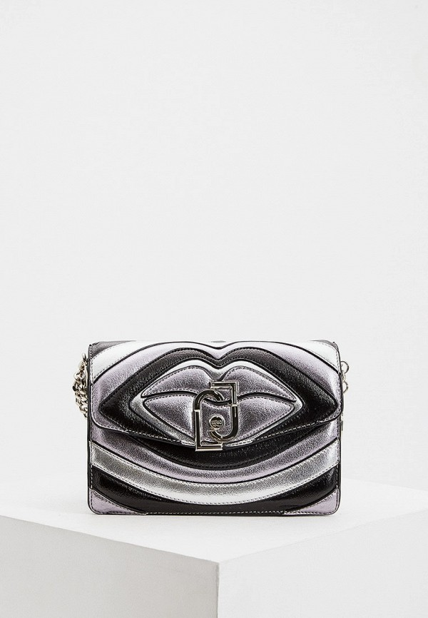 женская сумка liu jo, серебряная