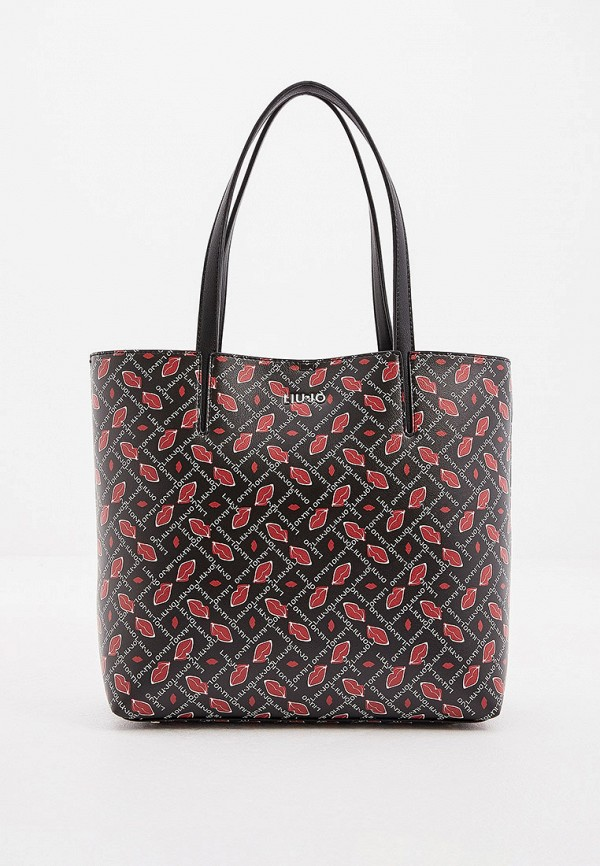 женская сумка-шоперы liu jo, черная