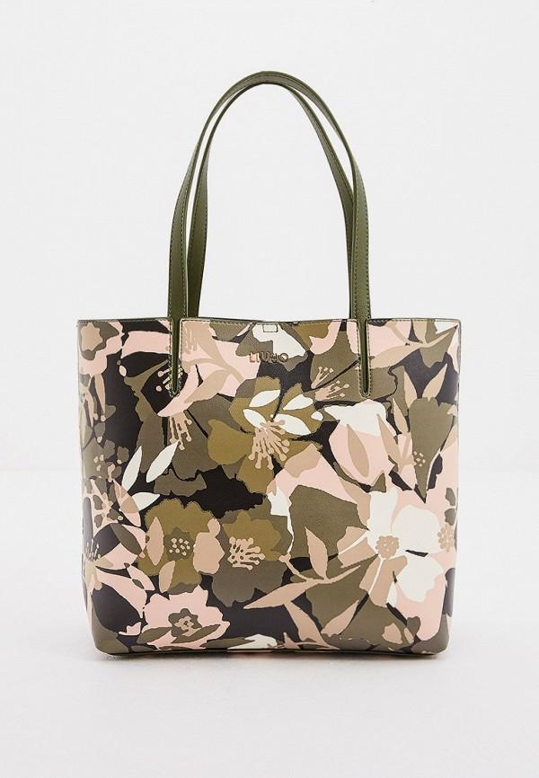 женская сумка с ручками liu jo, разноцветная