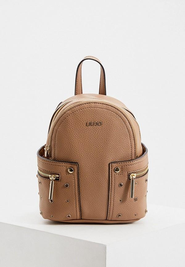 женский рюкзак liu jo, коричневый