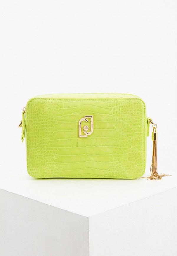 женская сумка через плечо liu jo, зеленая