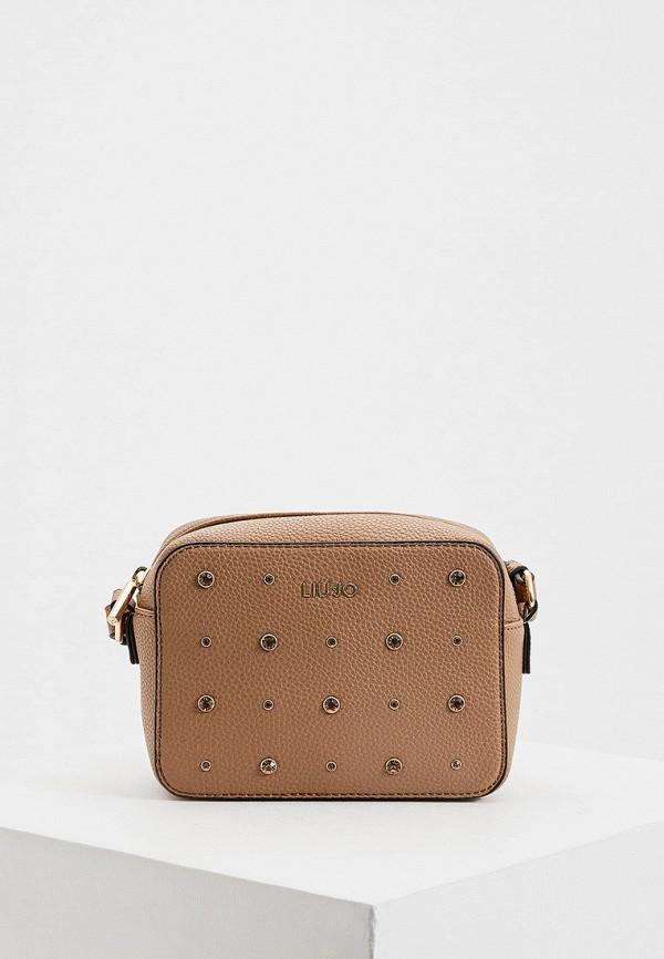 женская сумка liu jo, коричневая
