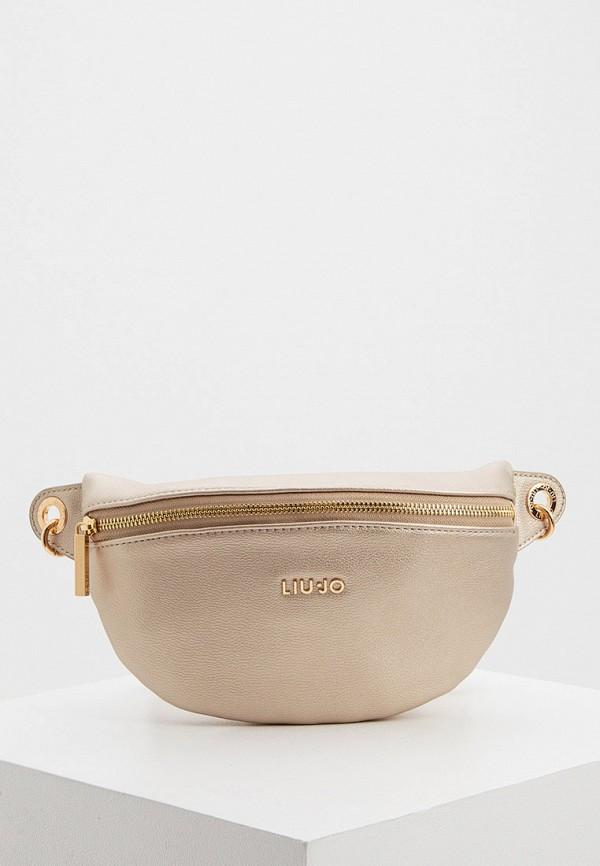 женская поясные сумка liu jo, золотая