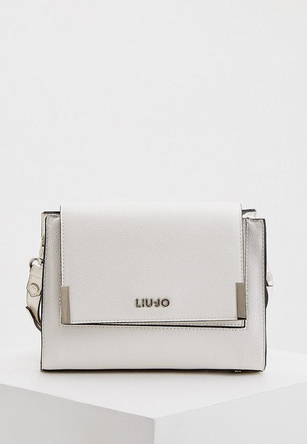 женская сумка через плечо liu jo, белая