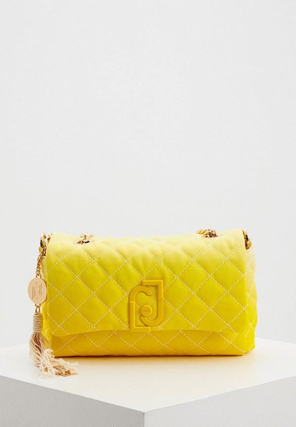 женская сумка через плечо liu jo, желтая