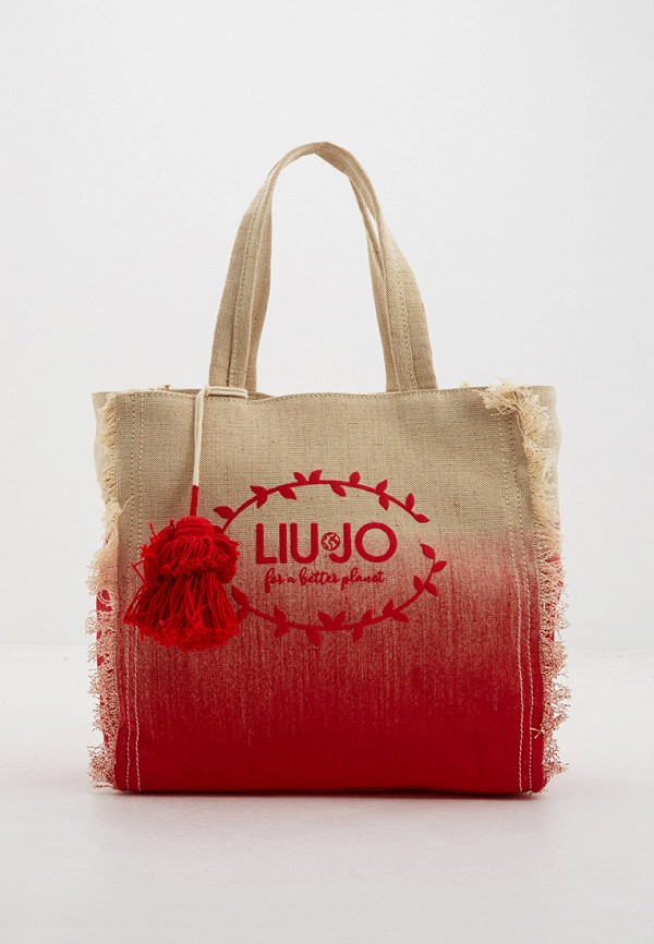 женская сумка с ручками liu jo, красная