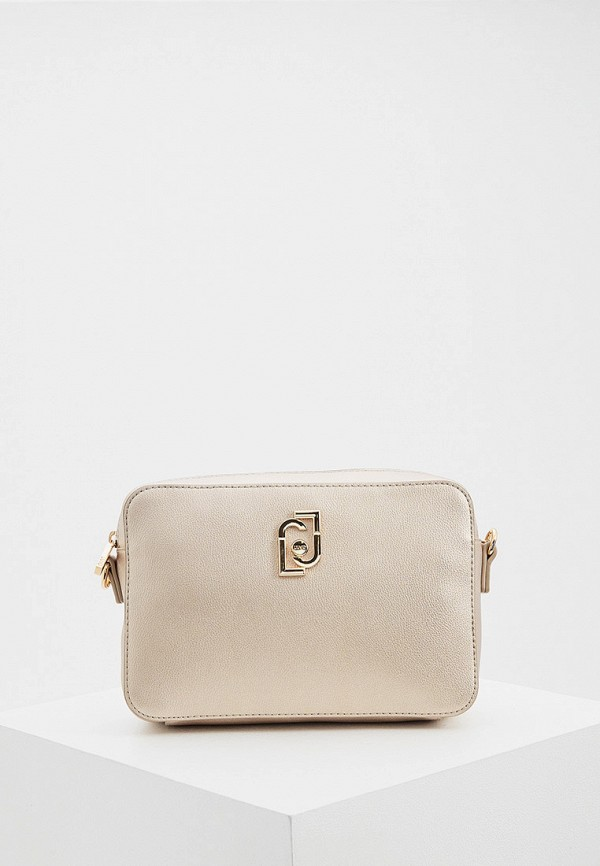 женская сумка через плечо liu jo, золотая